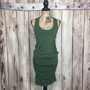 The Vanity Room Green Bodycon Dress Racerback XS